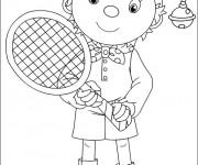 Coloriage Tennis 19