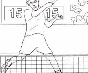 Coloriage Tennis 5