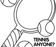 Coloriage Tennis Affiche