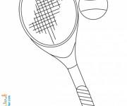 Coloriage et dessins gratuit Tennis Balle et Raquette à imprimer