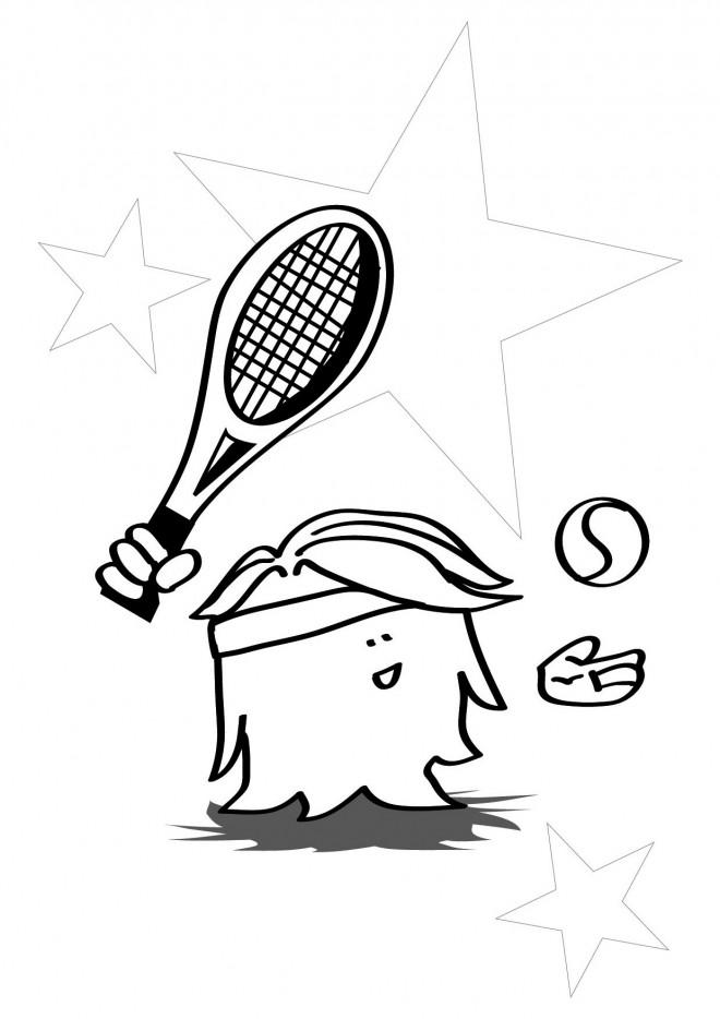 Coloriage et dessins gratuits Tennis humour à imprimer