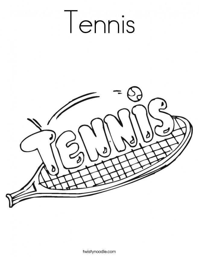 Coloriage et dessins gratuits Tennis Logo à imprimer
