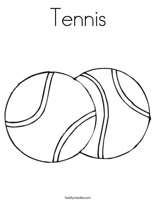 Coloriage et dessins gratuits Tennis maternelle à imprimer