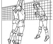 Coloriage Attaque de Volleyball