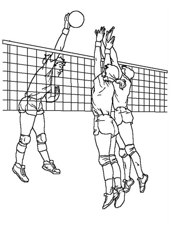Coloriage et dessins gratuits Ballon au filet de Volleyball à imprimer