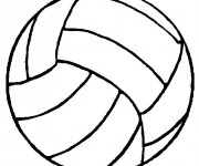 Coloriage Ballon de Volleyball