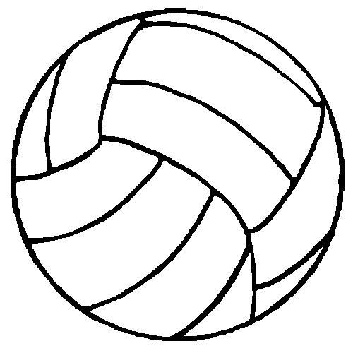 Coloriage et dessins gratuits Ballon de Volleyball à imprimer