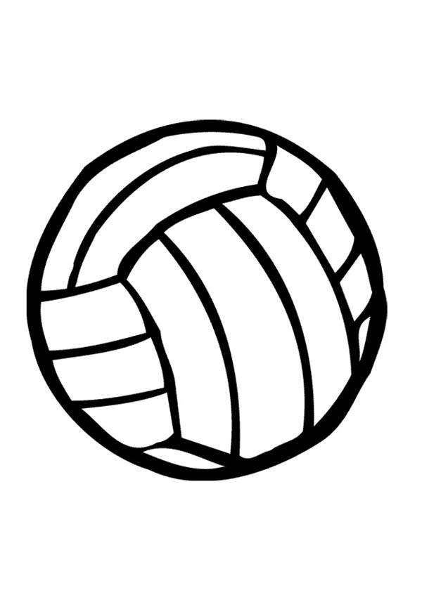Coloriage et dessins gratuits Ballon de Volleyball en noir à imprimer