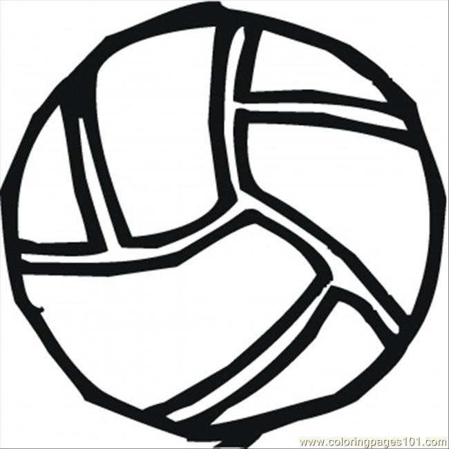 Coloriage et dessins gratuits Ballon de Volleyball tracé à imprimer