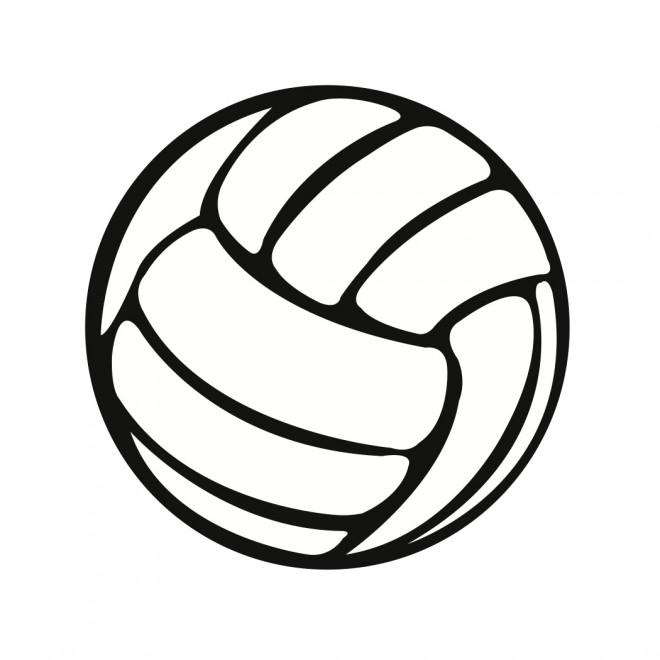 Coloriage et dessins gratuits Ballon Volley vecteur à imprimer