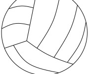 Coloriage Ballon Volleyball en ligne