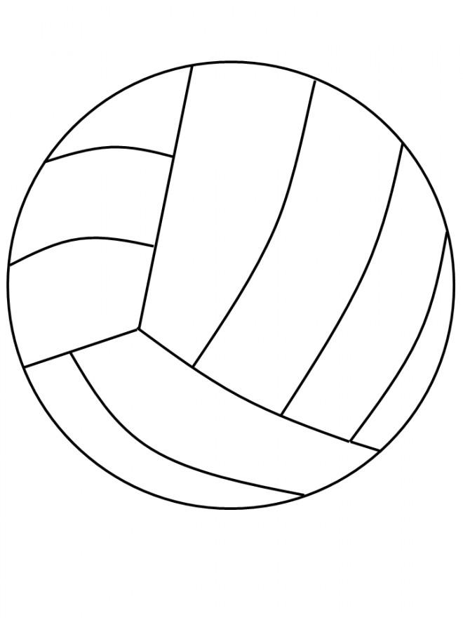 Coloriage et dessins gratuits Ballon Volleyball en ligne à imprimer