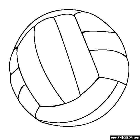 Coloriage Ballon De Volley.Coloriage Ballon Volleyball Facile Dessin Gratuit A Imprimer