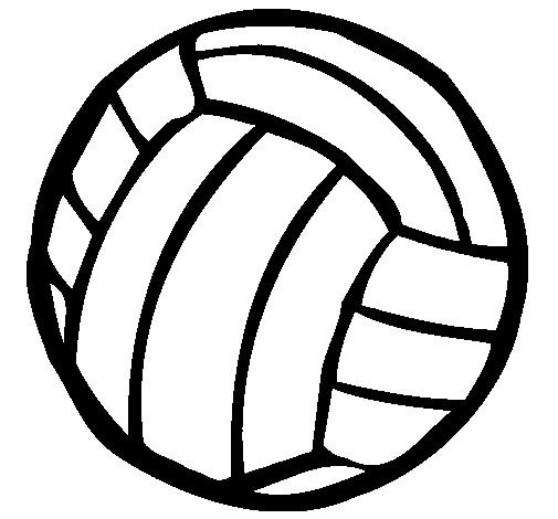 Coloriage et dessins gratuits Ballon Volleyball noir à imprimer