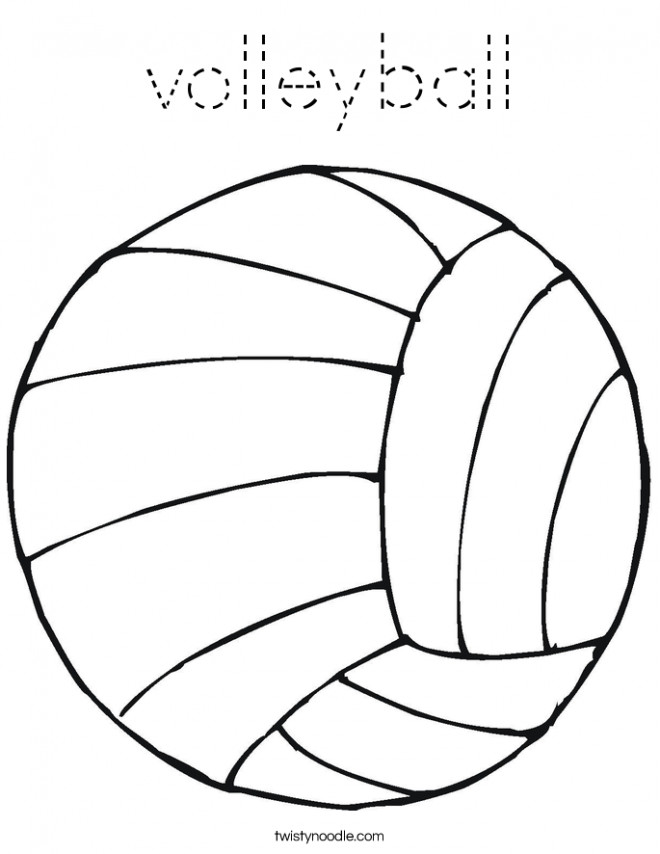 Coloriage et dessins gratuits Ballon Volleyball simple à imprimer