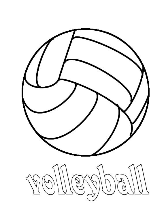 Coloriage et dessins gratuits Ballon Volleyball stylisé à imprimer