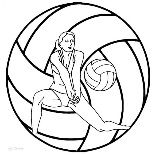 Coloriage et dessins gratuits Beach-Volley à imprimer