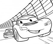 Coloriage Flash Mcqueen dessin animé