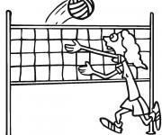 Coloriage et dessins gratuit Joueur de Volleyball drôle à imprimer