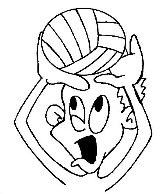 Coloriage et dessins gratuits Joueur de Volleyball humoristique à imprimer