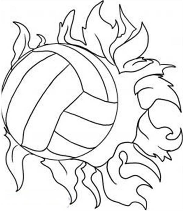 Coloriage et dessins gratuits Le ballon brûlé à imprimer