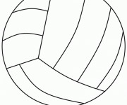 Coloriage Le Ballon de Volley