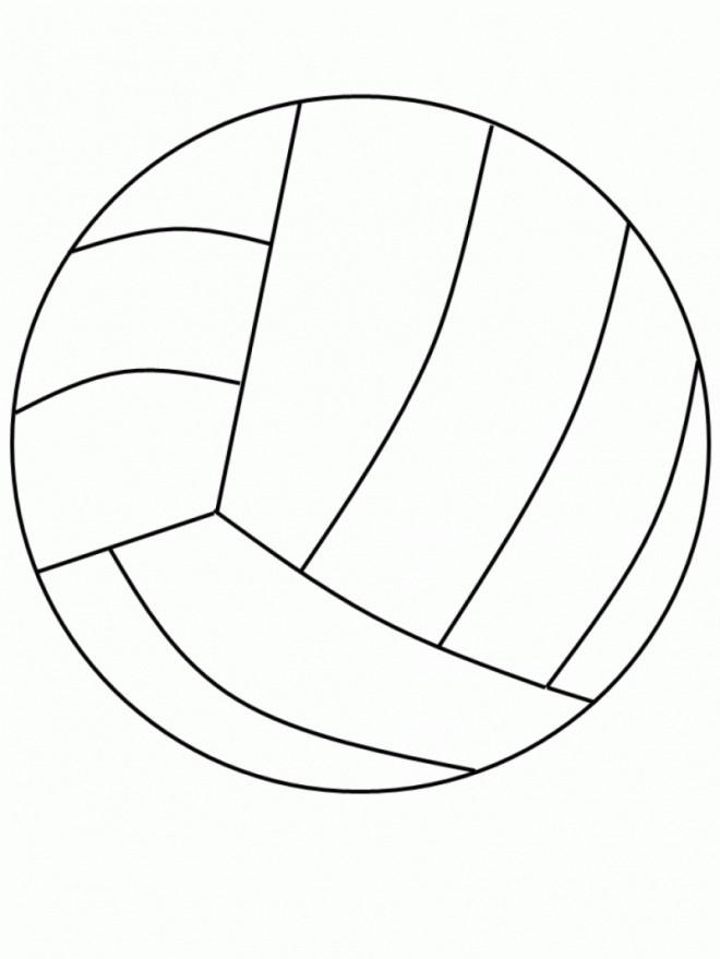 Coloriage et dessins gratuits Le Ballon de Volley à imprimer