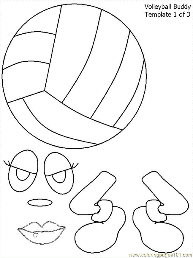 Coloriage et dessins gratuits Le Ballon Volley simplifié à imprimer