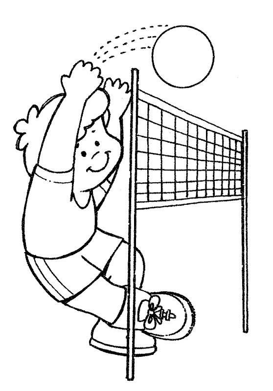 Coloriage et dessins gratuits Le mur de Volleyball à imprimer