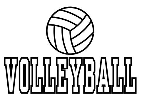 Coloriage et dessins gratuits Le Sport collectif Volleyball en noir à imprimer