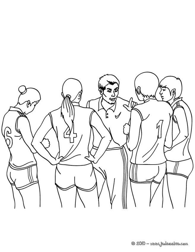Coloriage et dessins gratuits Le temps mort Volleyball à imprimer