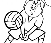 Coloriage Manchette Volleyball vecteur