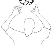 Coloriage Passeur de Volleyball