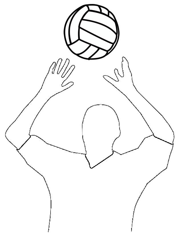 Coloriage et dessins gratuits Passeur de Volleyball à imprimer