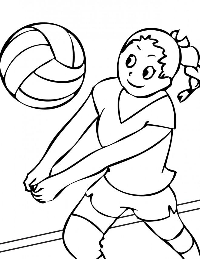 Coloriage et dessins gratuits Réception de Volleyball à imprimer