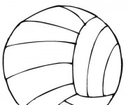 Coloriage Sport de Volleyball