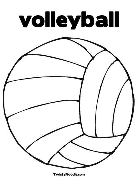 Coloriage et dessins gratuits Sport de Volleyball à imprimer