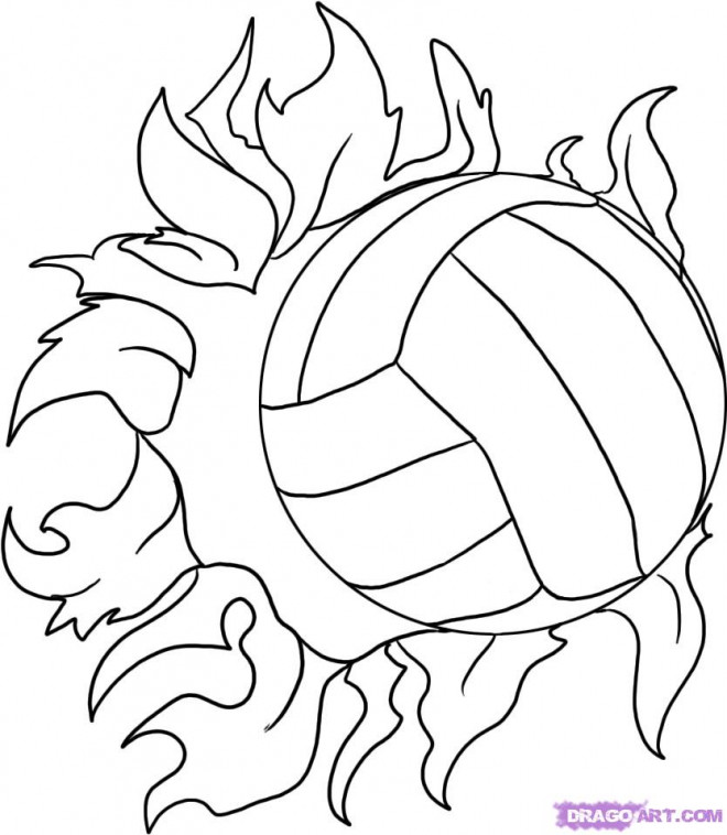 Coloriage et dessins gratuits Un Ballon en feu à imprimer