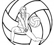 Coloriage dessin  Volleyball 16