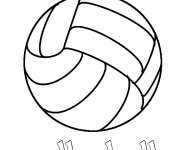 Coloriage dessin  Volleyball 17