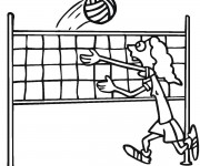 Coloriage dessin  Volleyball 19