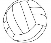 Coloriage dessin  Volleyball 3