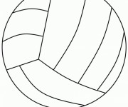 Coloriage dessin  Volleyball 5