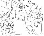 Coloriage dessin  Volleyball 6