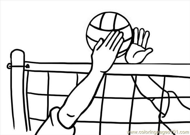 Coloriage et dessins gratuits Volleyball à télécharger à imprimer
