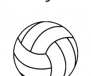 Coloriage Volleyball facile