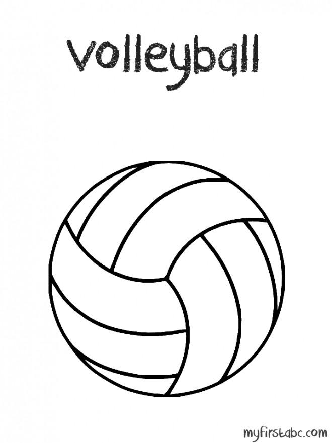 Coloriage et dessins gratuits Volleyball facile à imprimer