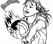 Coloriage et dessins gratuit Volleyball Féminin à imprimer