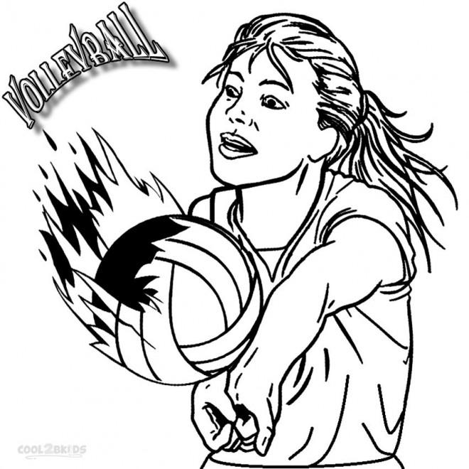 Coloriage et dessins gratuits Volleyball Féminin à imprimer