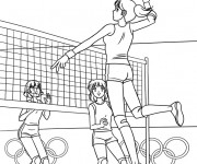 Coloriage Volleyball Jeux Olympiques